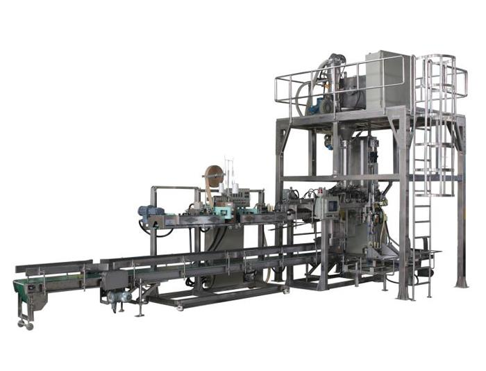 Automatic bagging powder production line