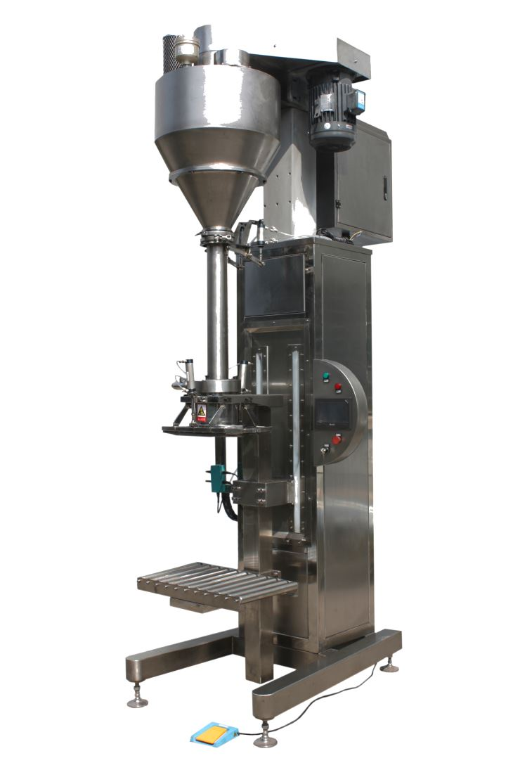 Lifting filling packaging machine